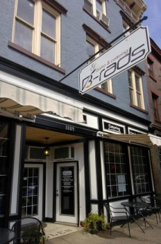 Front of B-Rad's Bistro in Troy, NY
