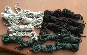 Dyed hemp rope